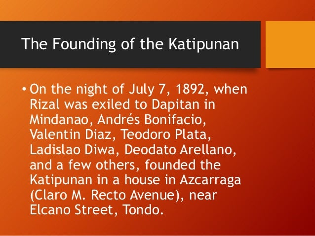 it was in this house where the katipunan was founded