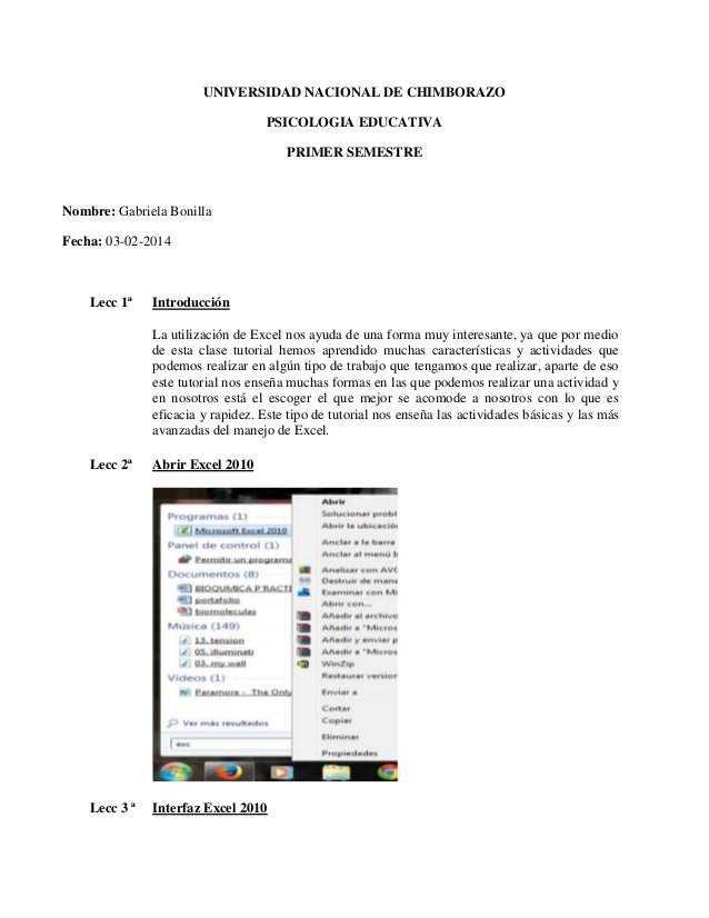 UNIVERSIDAD NACIONAL DE CHIMBORAZO PSICOLOGIA EDUCATIVA PRIMER SEMESTRE  Nombre: Gabriela Bonilla Fecha: 03-02-2014  Lecc ...