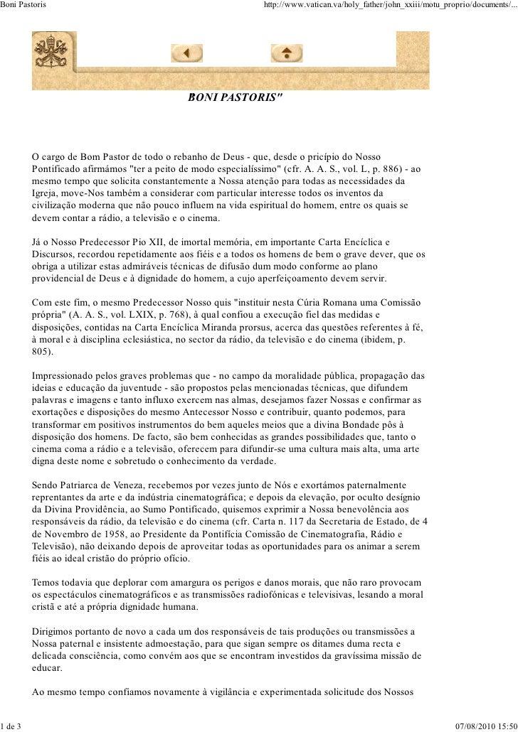 Boni Pastoris                                                    http://www.vatican.va/holy_father/john_xxiii/motu_proprio...