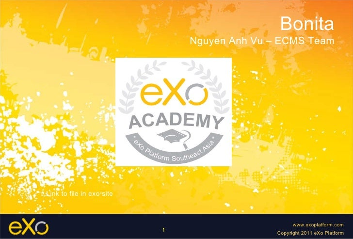 Bonita Nguyen Anh Vu – ECMS Team Link to file in exo site