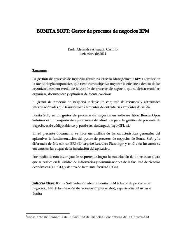 Bonita open solution