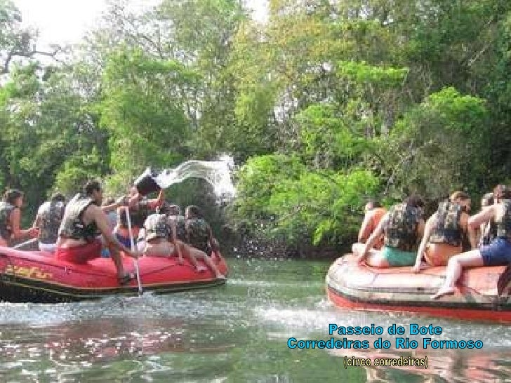Passeio de Bote Corredeiras do Rio Formoso (cinco corredeiras)