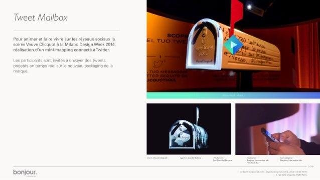 Bonjour, interactive lab. Présentation 2015