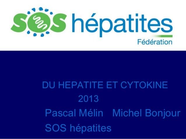 DU HEPATITE ET CYTOKINE 2013  Pascal Mélin Michel Bonjour SOS hépatites