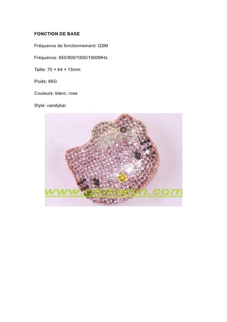 FONCTION DE BASE  Fréquence de fonctionnement: GSM  Fréquence: 850/900/1800/1900MHz  Taille: 70 × 64 × 15mm  Poids: 66G  C...