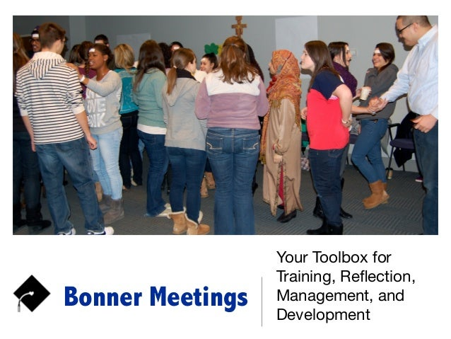 Bonner Meetings Your Toolbox for Training, Reflection, Management, and Development