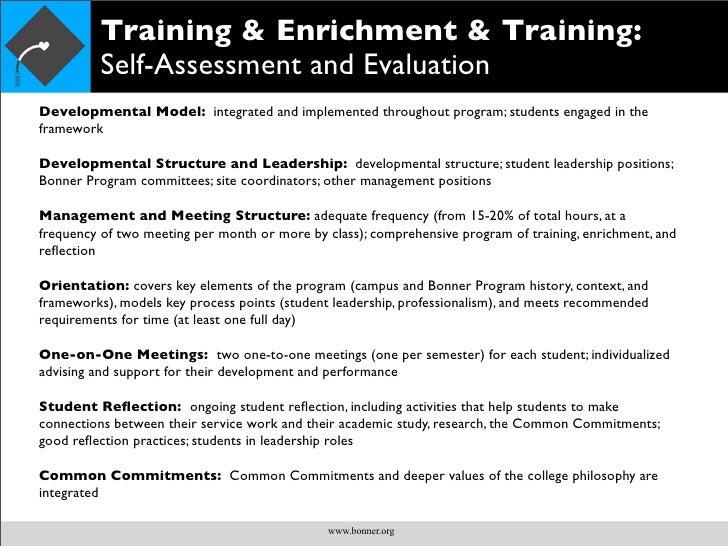 Bonner Student Development Model