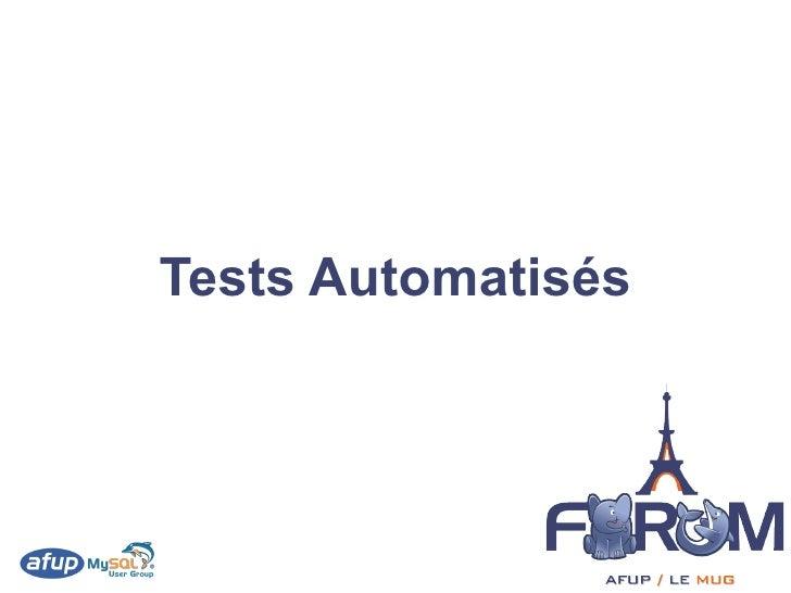 Tests Automatisés