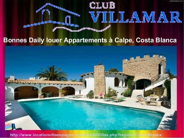 Bonnes Daily louer Appartements à Calpe, Costa Blanca http://www.locationvillaespagne.com/findAllVillas.php?region=Costa-B...