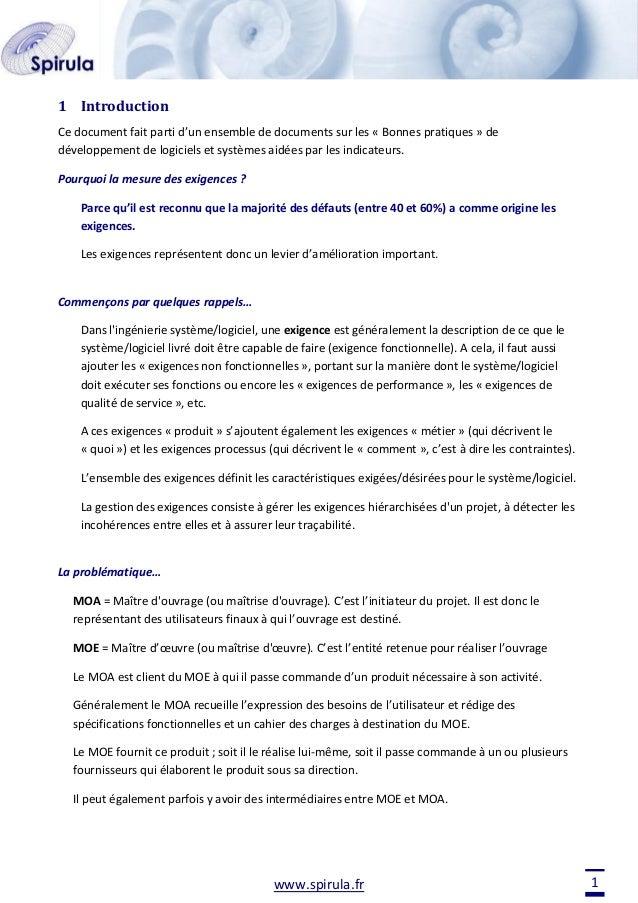 1 Introduction Ce document fait parti d'un ensemble de documents sur les « Bonnes pratiques » de développement de logiciel...