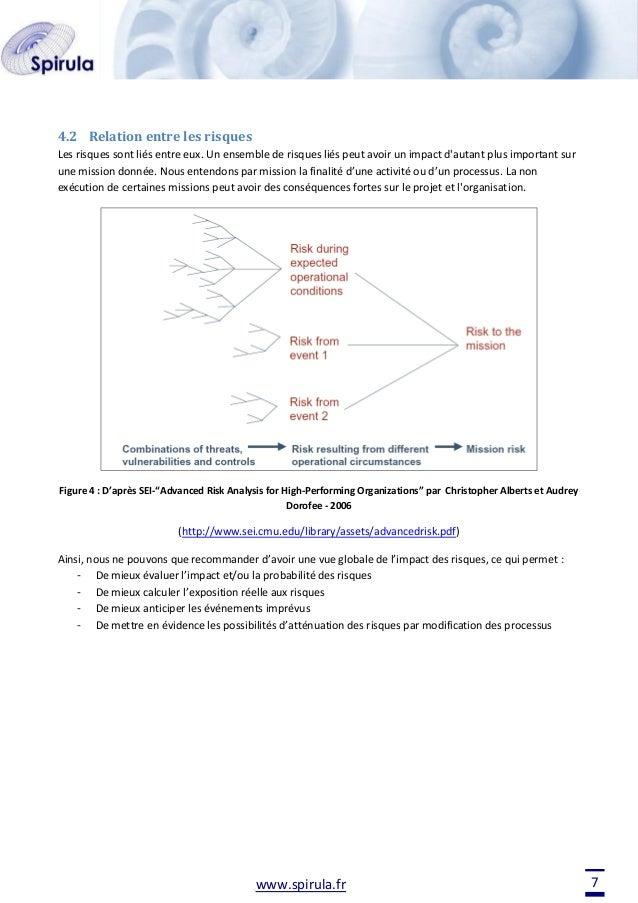4.2 Relation entre les risques Les risques sont liés entre eux. Un ensemble de risques liés peut avoir un impact d'autant ...