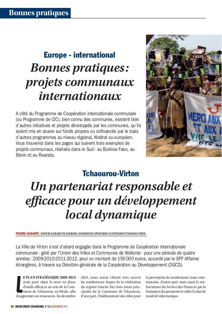 Bonnes pratiques                         Europe - international           Bonnes pratiques :          projets communaux   ...
