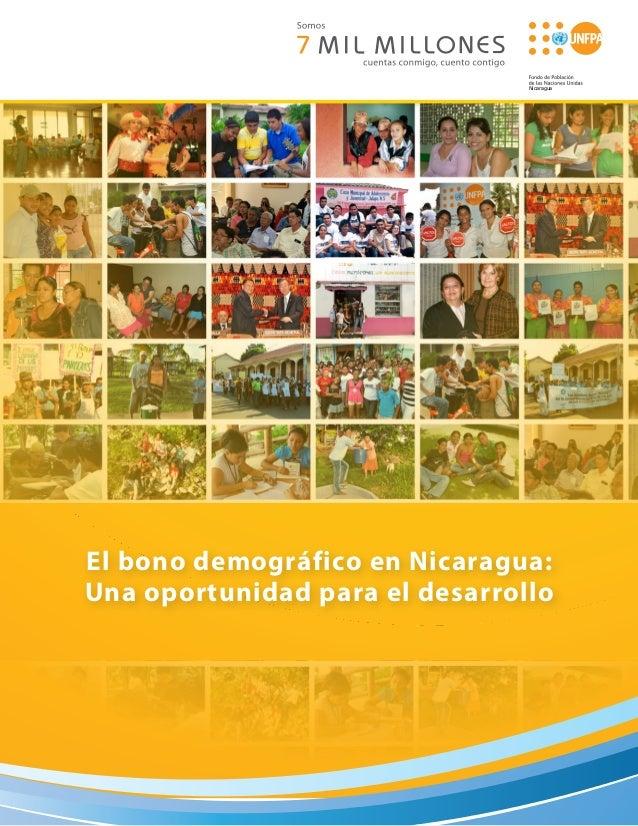 NicaraguaEl bono demográfico en Nicaragua:Una oportunidad para el desarrollo
