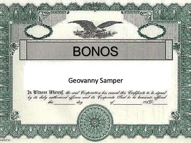 BONOS Geovanny Samper