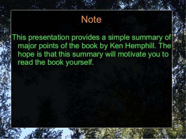 Summary: Bonsai Theory of Church Growth.  by Ken Hemphill Slide 2