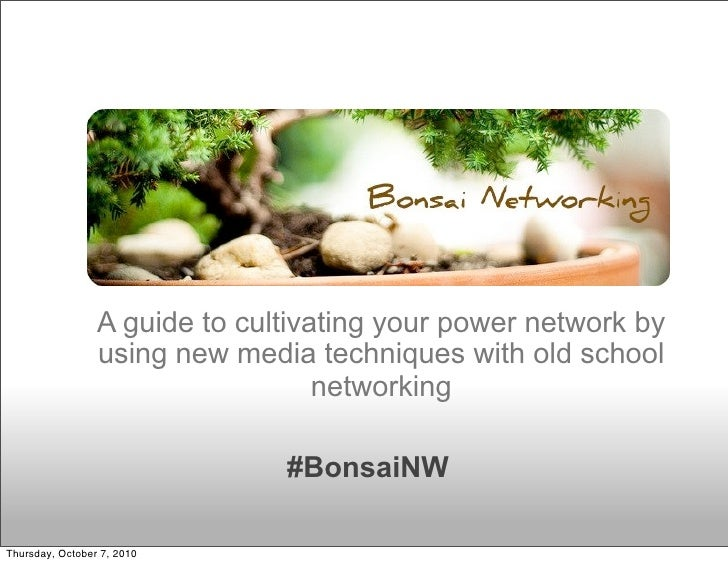 A guide to cultivating your power network by                  using new media techniques with old school                  ...