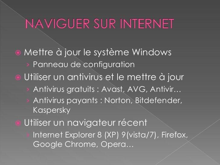    Posséder les logiciels incontournables    › Adobe Reader, Flash Player, Silverlight,      Quicktime, VLC, Java   Crée...