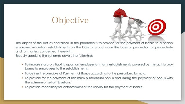 The Payment of Bonus act, 1965 Slide 3