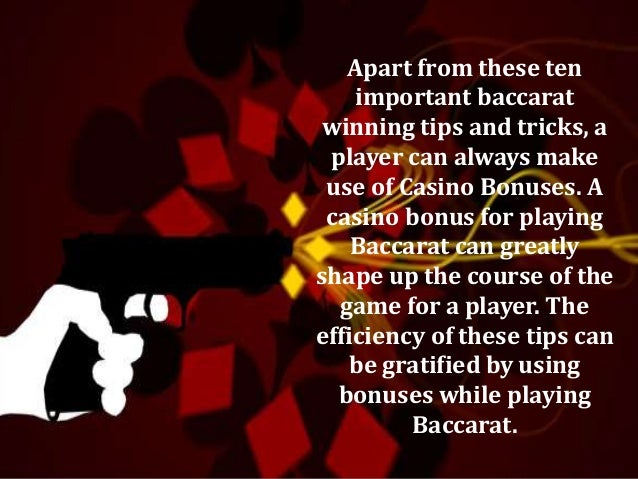 Baccarat Tips And Tricks