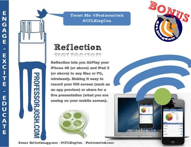Tweet Me: @ProfessorJosh                                    #CFLBlogCon                     Reflection                   R...