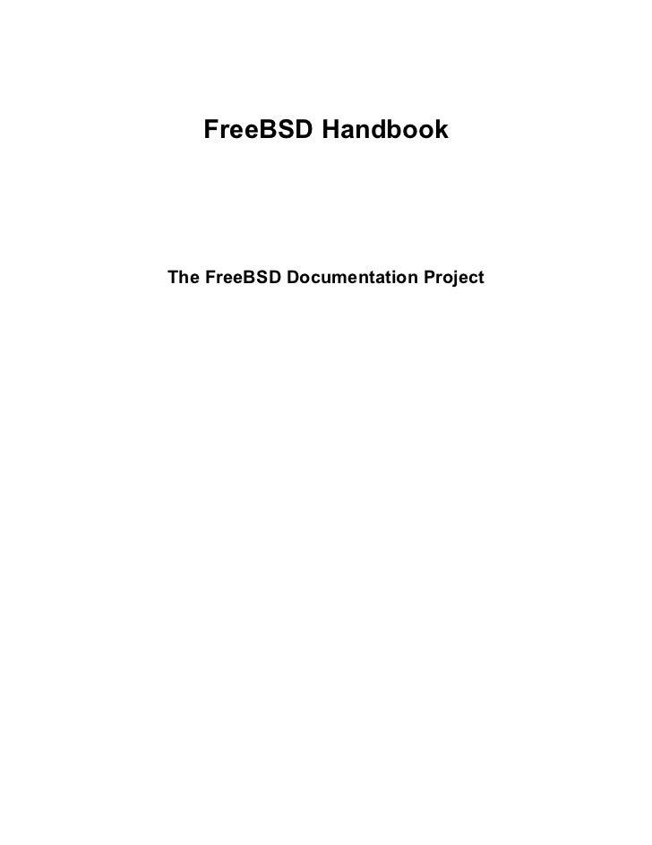 FreeBSD HandbookThe FreeBSD Documentation Project