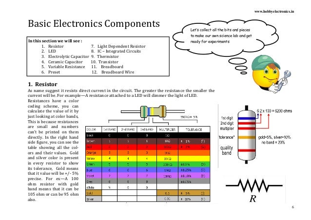 basic electronic components and their functions ppt Electronics Project Book