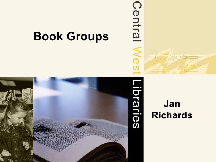 Book Groups Jan Richards