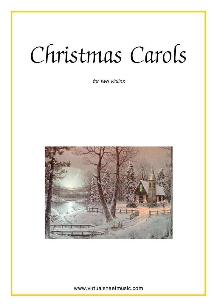 christmas carols for two violins www virtualsheetmusic com virtual sheet music pdf