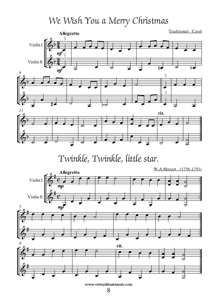 Christmas Duets.Book Duo Violin Christmas Carols Duets 1