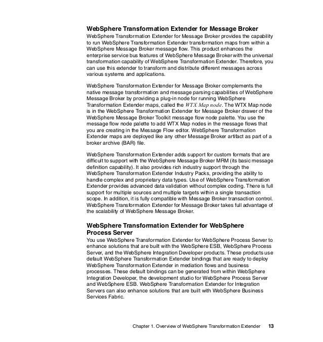 Book IBM WTX 82 - Websphere Message Broker Cover Letter