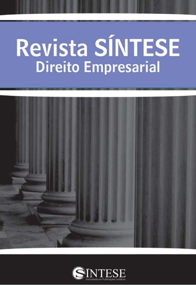 """Carta do Editor """"Lei Anticorrupção"""" foi o tema abordado na edição de nº 37 da Revis- ta SÍNTESE Direito Empresarial. O com..."""