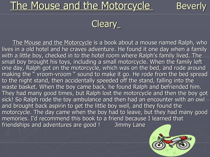 The Mouse that Wanted a Motorcycle