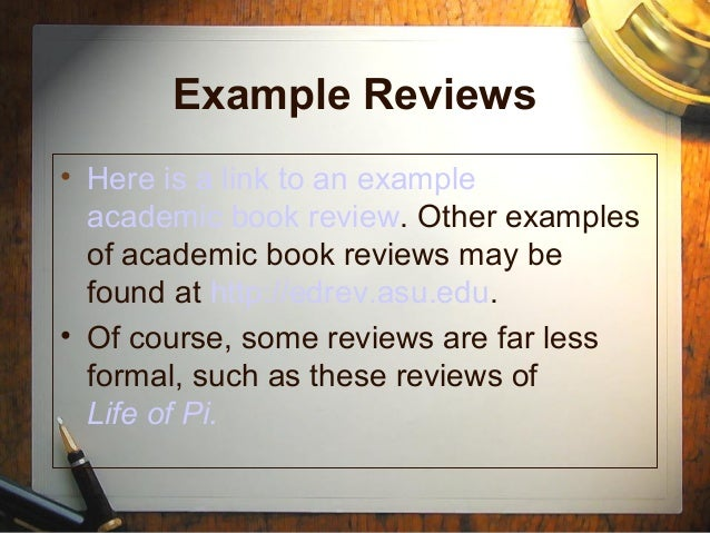 How to write a book review ?