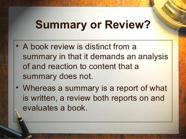 how to write a book report