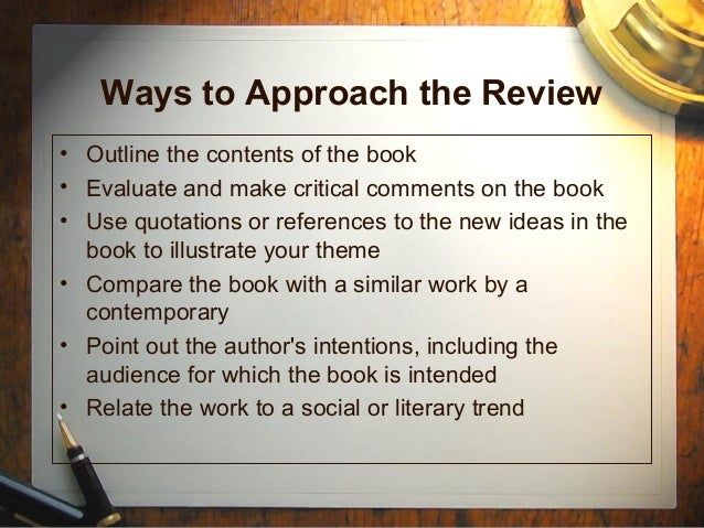 how to write a book review for college examples