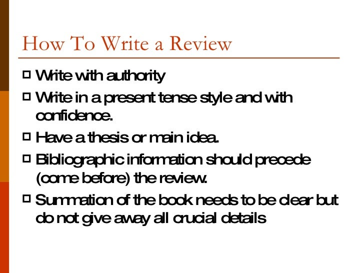 How to write a book review paper