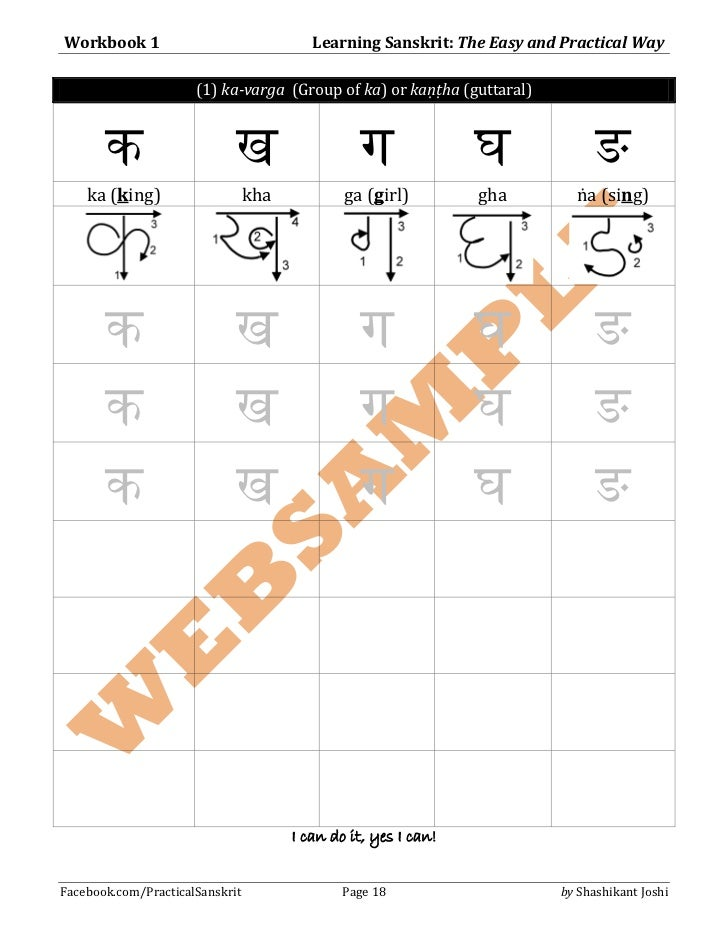 Learning Sanskrit: The Easy and Practical Way - Workbook 1