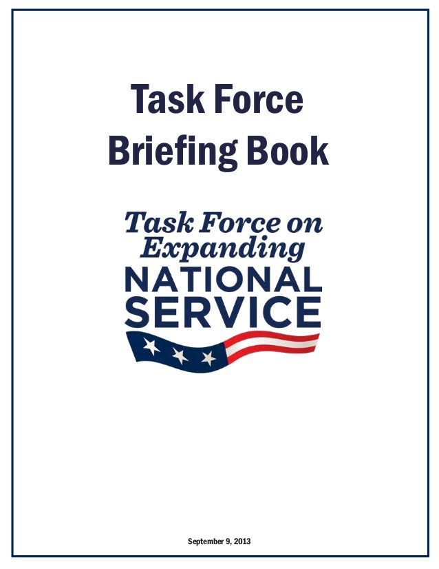 Task Force Briefing Book September 9, 2013