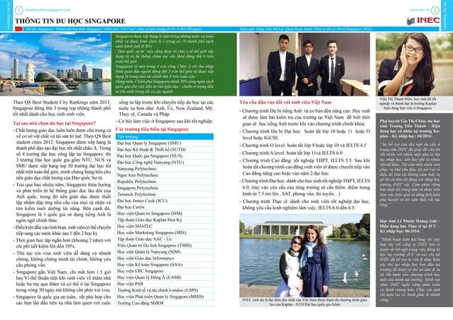 kienthucduhocsingapore.com DuhọcSingapore DuhọcSingapore www.inec.vn1 2 THÔNG TIN DU HỌC SINGAPORE Thủ đô: Singapore | Thà...