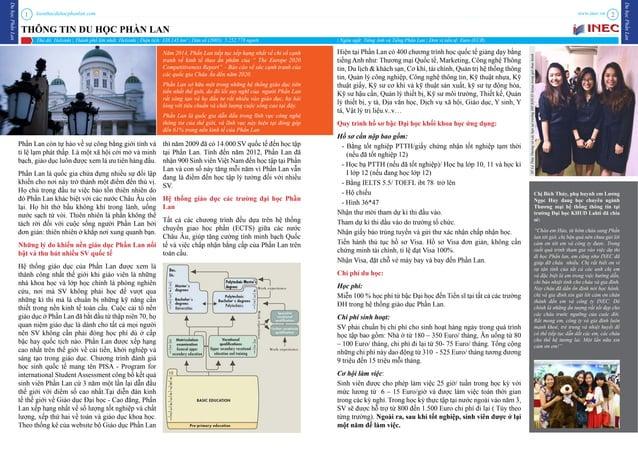 kienthucduhocphanlan.com duhọcphầnlan duhọcphầnlan www.inec.vn1 2 THÔNG TIN DU HỌC PHẦN LAN Đại học nghiên cứu Đại học kho...