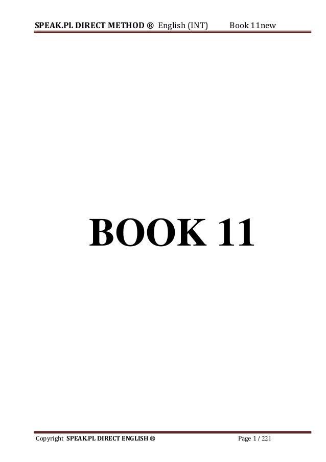 SPEAK DIRECT ENGLISH METHOD Book11
