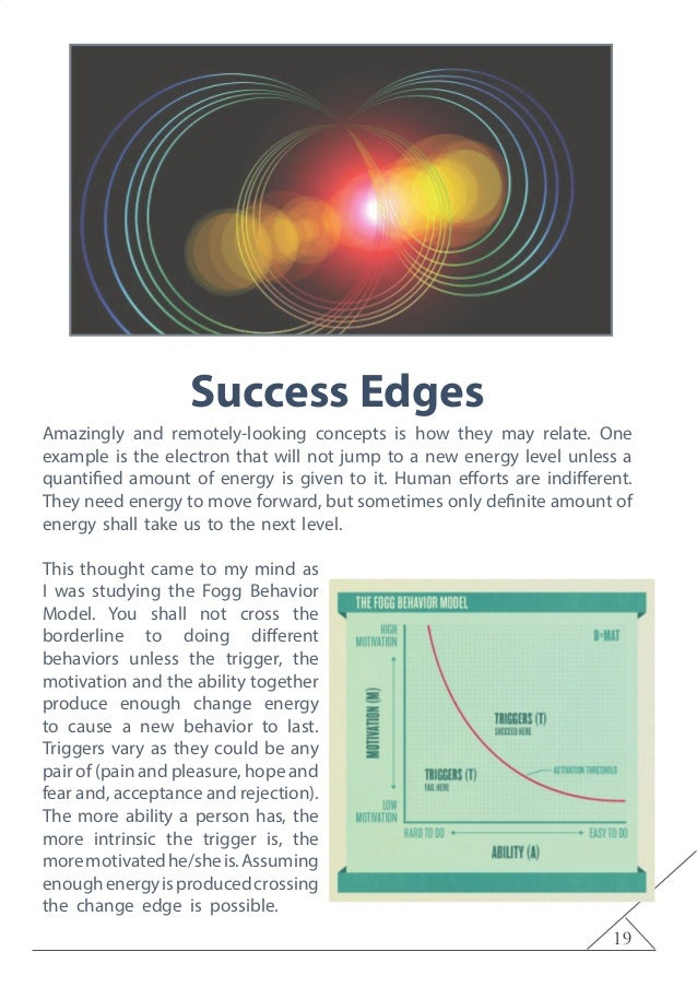 19 Success Edges Amazingly and remotely-looking concepts is how they may relate. One example is the electron that will not...