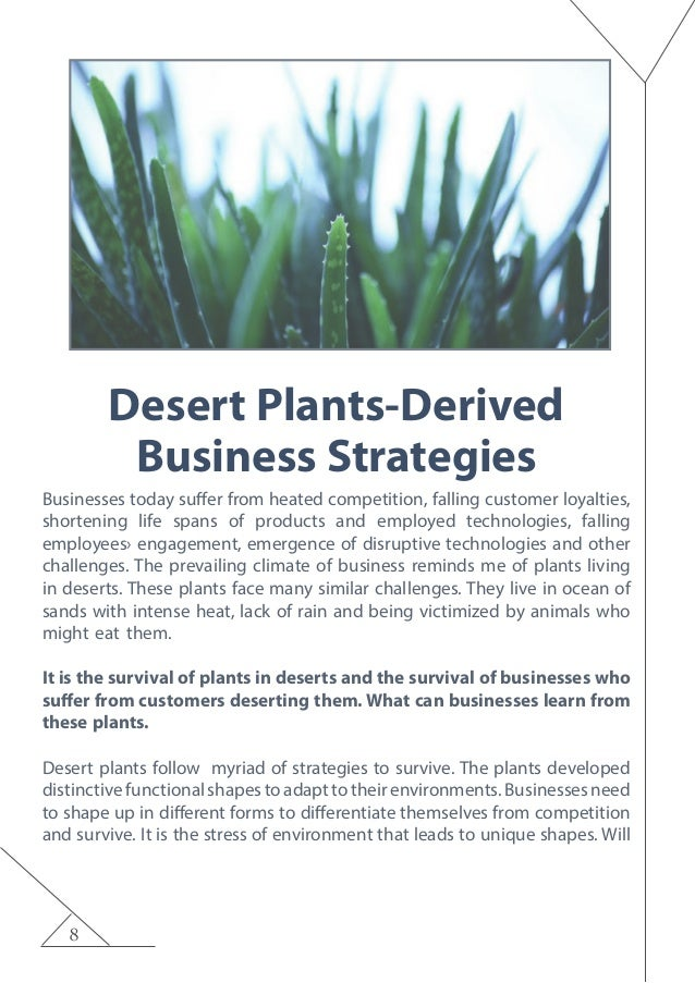 8 Desert Plants-Derived Business Strategies Businesses today suffer from heated competition, falling customer loyalties, s...