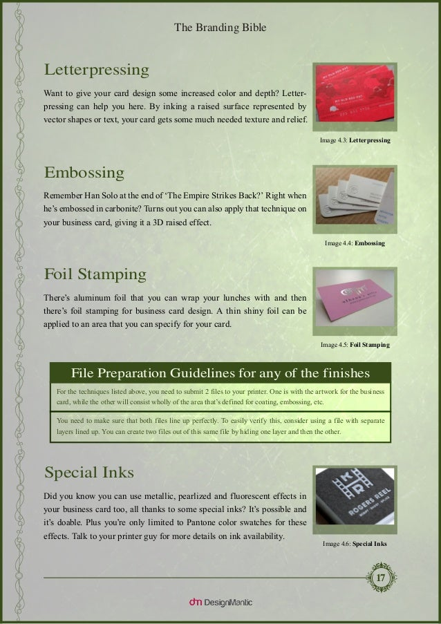 The branding bible business card design explained image 42 spot uv coating 20 reheart Image collections
