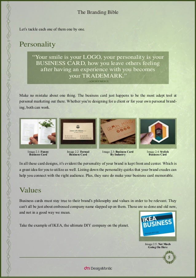 The branding bible business card design explained business card 8 reheart Choice Image