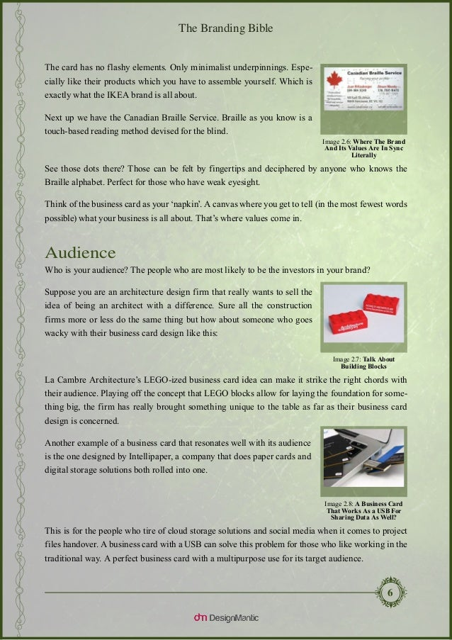 The Branding Bible - Business Card Design Explained.