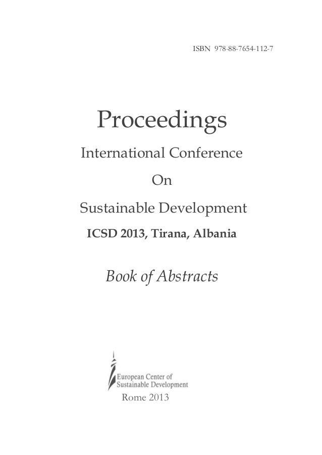 ICSD 2013 Proceedings