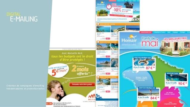 Création de campagnes d'emailing hebdomadaires et promotionnelles digital e-mailing