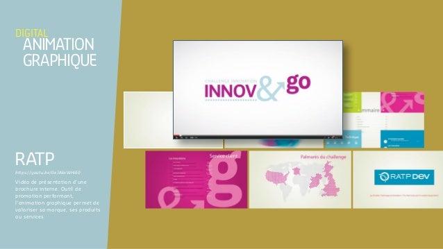 Vidéo de présentation d'une brochure interne. Outil de promotion performant, l'animation graphique permet de valoriser sa ...