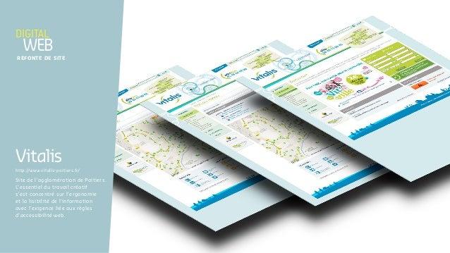 Site de l'agglomération de Poitiers. L'essentiel du travail créatif s'est concentré sur l'ergonomie et la lisibilité de l'...